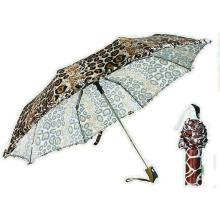 Животное юбка кожа Ветрозащитный компактный зонтик (КПС-3FA22083906R)