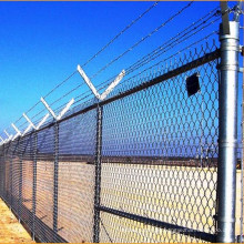 Cerca do elo de corrente do sistema de alta segurança