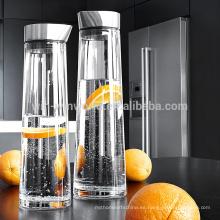 Nueva jarra de agua de vidrio de borosilicato de gran capacidad clara caliente con la tapa 1L