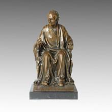 Figura clásica estatua Litterateur Voltaire Escultura de bronce TPE-132