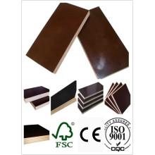 Madera de madera dura Plywood WBP Pegamento Brown Película Primer grado 1220 * 2440 Tamaño