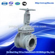 Gute Qualität Gost Standard Gussstahl Einscheibenflansch Endschieber pn16 für Dampf Service
