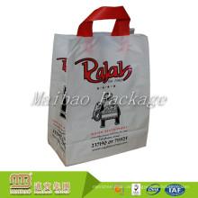 Oem Custom Made Heavy Duty Soft Loop Griff Verpackung wiederverwendbare Recycling-Kunststoff-Einkaufstaschen