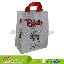 Oem Custom Made Heavy Duty Soft Loop Handle Packaging Reusable Recycled Plastic Shopping Bags