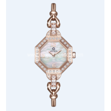 Luxury gold fashion ladies jewelry watch