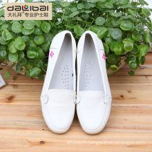 Bulk wholesale fashion hospital nursing shoes white leather nurse shoes