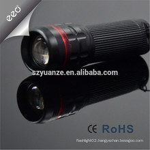 Chinese zoom dimmer led flashlight torch, zoom flashlight torch