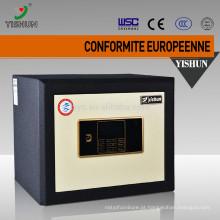 Caixa segura do dinheiro à prova de fogo eletrônico da impressão digital com fechamento chave