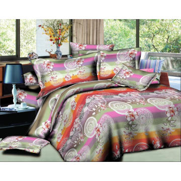 Conjuntos bonitos da folha de cama do poliéster 100%