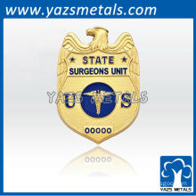 custom made high quality 3D badge for state surgeons unit