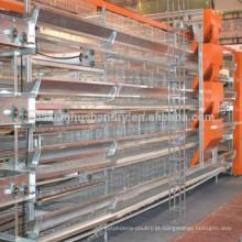 Popular gaiola de galinha galvanizada completa com equipamentos anexados