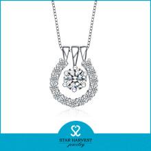 Elegant Lady Necklace with CZ Stone