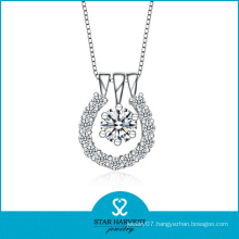 Elegant Lady Necklace with CZ Stone
