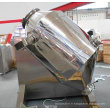 Mélangeur de poudre en trois dimensions d'acier inoxydable