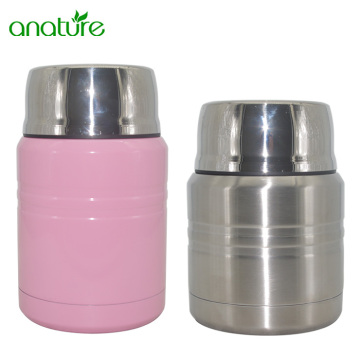 Manufacturer for Vacuum Insulated Food Jar Insulated Stainless Steel Food Jar With Folding Spoon supply to Belarus Exporter