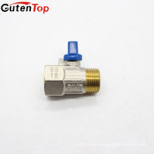 GutenTop High Quality Brass Mini Ball Valve Female and Male copper nickel plated mini ball valve