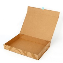 Personlized Products for Magnetic Closure Gift Box Kraft flat magnetic closure gift box export to Indonesia Wholesale