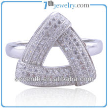 Costume Triangle Shaped High Quality Fashion Jewelry With CZ Diamond Engagement/Wedding Rings