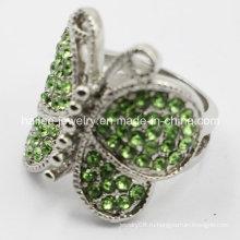 Кольцо из нержавеющей стали с бабочкой для женщин
