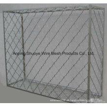 Cerca da ligação Chain galvanizada, PVC revestido, painel galvanizado da cerca