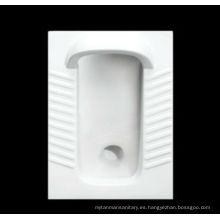 Retrete de cerámica de alta calidad de la cacerola en cuclillas con la defensa (DA3090-1)