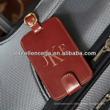 Étiquettes à bagages en cuir de haute qualité