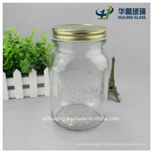 1000ml 1liter Bulk Ice Cold Engraved Food Glass Mason Jar