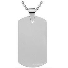 Étiquette en acier inoxydable d'acier inoxydable de carte d'armée de titane, étiquettes en métal faites sur commande en gros