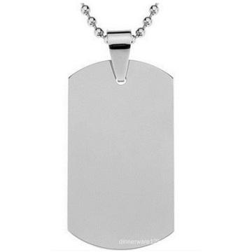Placa de identificación del acero inoxidable de la tarjeta del ejército del acero de titanio, etiquetas de encargo del metal de la venta al por mayor