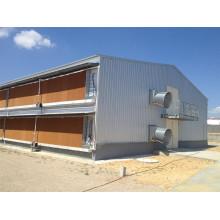 Casa de pollo de corral prefabricada cerrada de doble cubierta (higiénica y sólida) (KXD-PCH12)