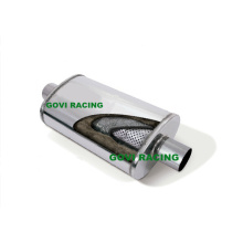 5′′x8′′x14′′x20′′ Dual 2.5′′/Center 3′′ Mirror Car Truck Muffler Witth 409 Ss