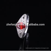 2018 anel de prata da moda com pedra opala