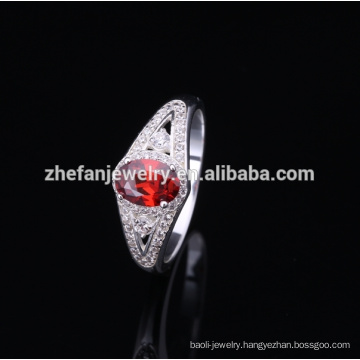 2018 fashion silver ring with opal stone