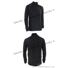 Männer langärmelige schwarze Fitness-hohe Kragen-Art- und Weisefreizeit-Sport-Mäntel