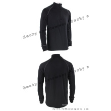 Hommes à manches longues Black Fitness High Collar Fashion Leisure Sports Coats