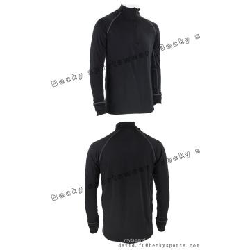 Hombres De Manga Larga Negro De Aptitud De Alto Collar Moda Ocio Deportes Abrigos
