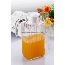 Jarro de suco de vidro de 1,8 L com tampa