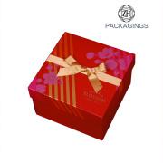 Personnaliser la boîte-cadeau d'impression faite sur commande de couvercle et de Bas