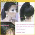 2015 meilleur vendre des cheveux vierges européenne soyeuse droite cheveux humains pleine perruque de dentelle