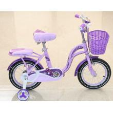 Bicicleta de cuatro ruedas para niños con cesta