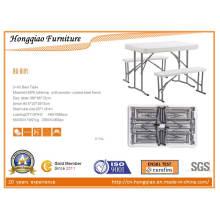 Mesa plegable de plástico y bancos (HQ-B105)