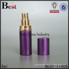 5ml purple luxury aluminium refill perfume atomizer, refillable perfume bottle