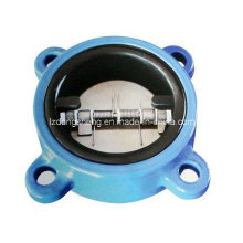 Rubber Coated Lug Type Double Plate Check Valve Pn16