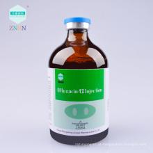 Ofloxacina 4% injeção, usado para a infecção bacteriana e micoplasma de gado e aves de capoeira