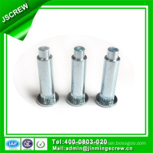 Blind Rivet Flat Head Semi Tubular Shoulder Solid Aluminum Rivet