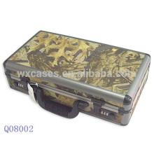 caso de arma militar alumínio com pele de pano Camo e com espuma dentro do fabricante