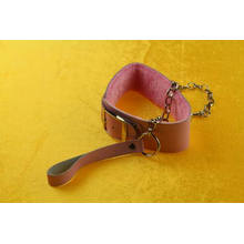 Sex Toy Leather Handcuffs Metal Chains