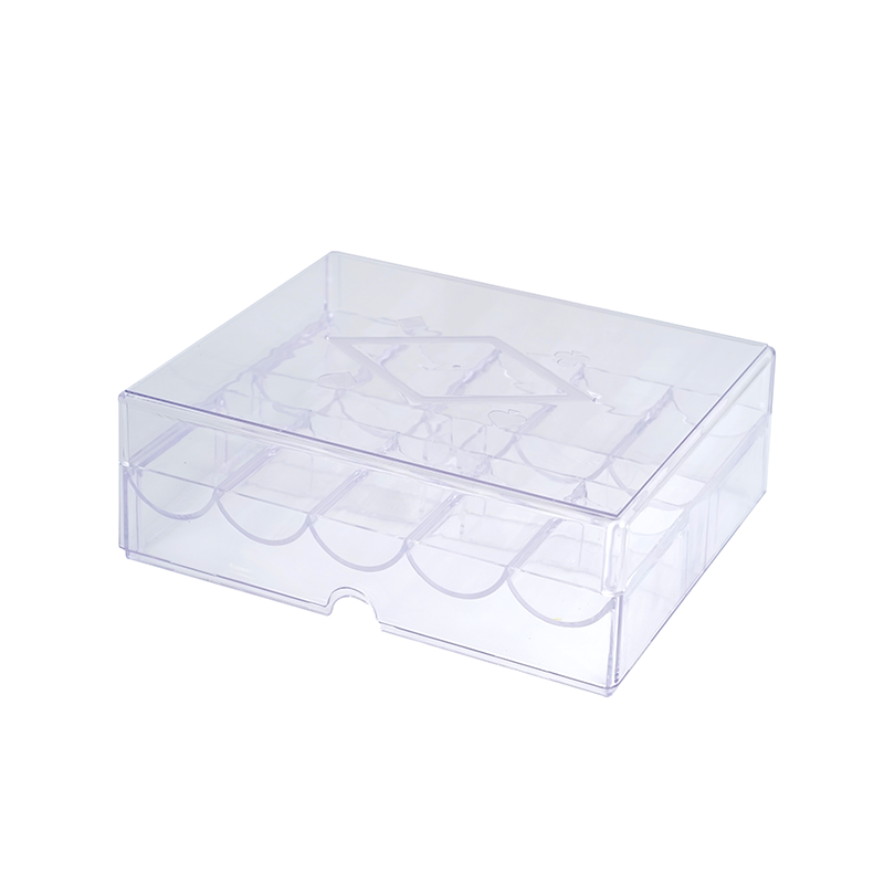 Acrylic Chip Tray With Lid 10 Rows