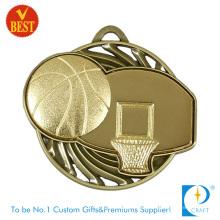 Цена фабрики Китая изготовленный на заказ, креативный дизайн 3D Баскетбол медаль с прорезями