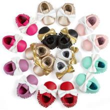 9 Цвет Бантом И Кисточками Детская Обувь Первые Ходунки Младенческой Малыша Мокасины